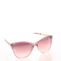 Metal Chain Wayfarer Sunglasses