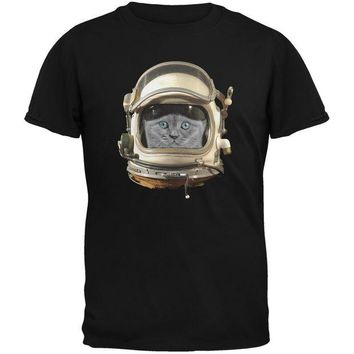 DCCKJY1 Astronaut Cat Black Youth T-Shirt