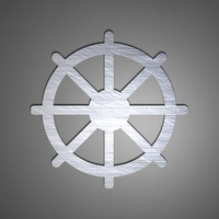 Tibetan Dharma Wheel Metal Wall Art