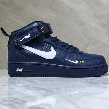 Nike Air Force 1 Low Gaobang Fashion Leisure Board Shoes 9bece5a05