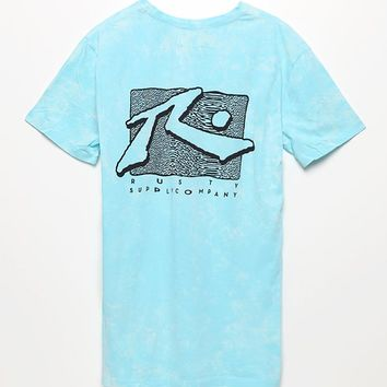 Rusty Bleached As T-Shirt - Mens Tee - Blue