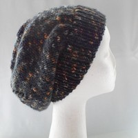 Gray Slouchy Hat Warm Cap Winter Fashion Accessories Ready to Ship