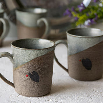 Small Coffee Cup / Pottery Mug / Ceramic Cup / Lungo Coffee Cup / Cafe