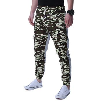 2017 Mens Jogger Spring Harem Pants Camouflage Military Skinny Casual Pants Loose Camo Printing Cargo slim fit pants Plus Size