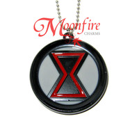 THE AVENGERS Black Widow Logo Pendant Necklace