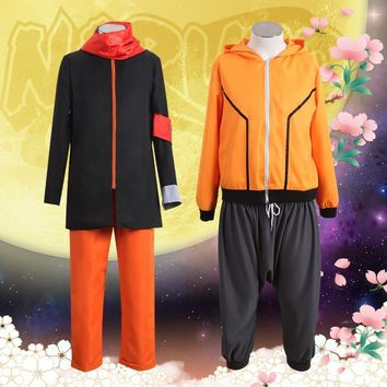 The Last: Naruto the Movie Cosplay Uzumaki Naruto Eighth Ninth Clothes as Boruto's Father Orange Hoodie Suit Halloween Costume