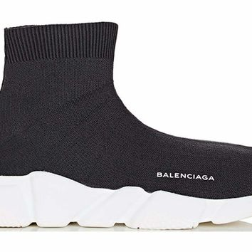 KUYOU Balenciaga Speed Trainer Mid - White Black
