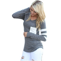 Striped Long Sleeve Casual T Shirt