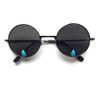 SAD GIRL-  Round Lens Wireframe sunglasses with Teardrop cabs