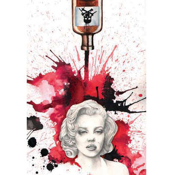 Poisoned Marilyn Art Print by Artist Christina Ramos