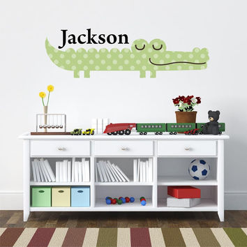 Wall Decals Nursery - by Decor Designs Decals, King of the Jungle Baby Nursery Decor with Sleeping Lion, Giraffe, Elephants and Monkeys, Boys Name Decals, Names CC3