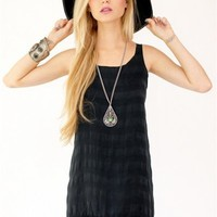 AMERICAN GOLD It Girl Fringe Tank -Blackbr /$116