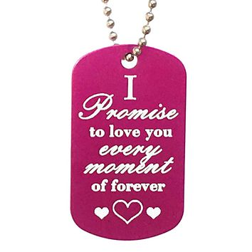 I Promise to Love You Dog Tag Necklace