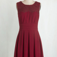 Mid-length Sleeveless A-line V.I.Pleased Dress in Wine