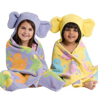 Kids Organic Hooded Towel - Elephants