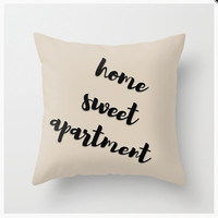 THROW PILLOW Home Sweet Apartment - housewarming gift, college student, leaving home, first apartment, wedding, moving gift, new neighbor