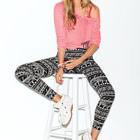 Printed Yoga Legging - PINK - Victoria's Secret