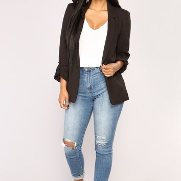 Business AF Blazer - Black