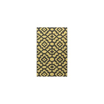 Candice Olson Market Place Gold & Black Area Rug