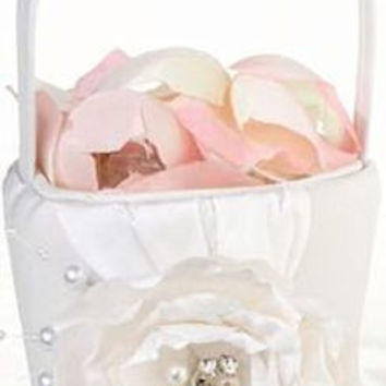 Chic and Shabby Flower Girl Basket