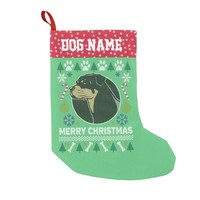 Rottweiler Dog Breed Ugly Christmas Sweater Small Christmas Stocking