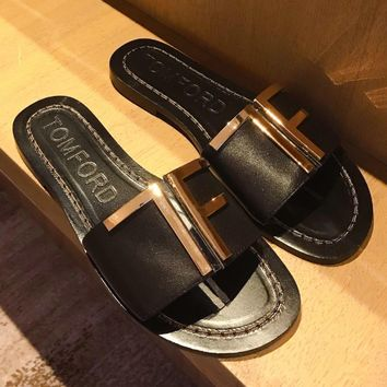 TOM FORD – TF Metal slippers