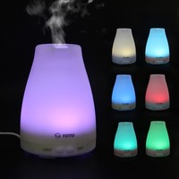 Essential Oil Diffuser, TOTU Ultrasonic Aromatherapy Humidifier with Diffuser, Capacity of 100ml, Silence Cool Mist/ 7 LED Colors/ Waterless Auto Off