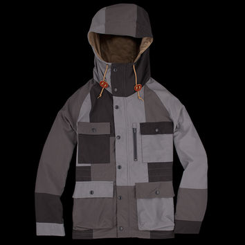 UNIONMADE - Beams+ - Color Block Print Mountain Parka in Grey