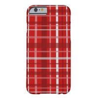 Plaid Pattern, Red Barely There iPhone 6 Case