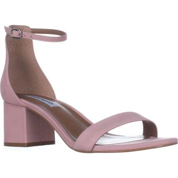 Steve Madden Irenee Heeled Ankle Strap Sandals, Light Pink, 7.5 US