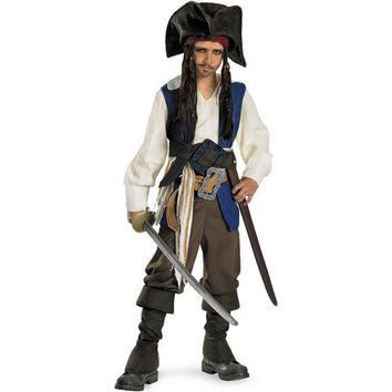 Pirates of the Caribbean 4 On Stranger Tides - Captain Jack Sparrow Child Costume - Small (4/6)