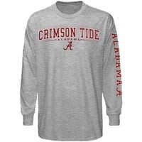Alabama Crimson Tide Ash Standard Long Sleeve T-shirt
