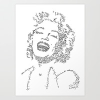 Marilyn Monroe WordsPortrait Art Print by WordsLines