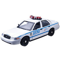 NYPD Crown Victoria Lights And Sounds Die Cast
