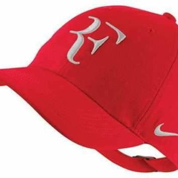 New Nike RF Aerobill H86 Cap Roger Federer Hat Tennis Dri Fit AH6985-657 Red