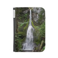 Forest Waterfall Kindle Case