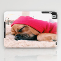 Hank sleeping, softly iPad Case by Hank Puggle