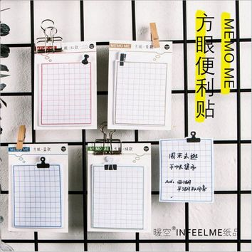 30 Pages/Pack Square grid note Sticky Notes Daily Agenda Planner Accessories Tool Index Sticky Memos Message Notes Scratch pad