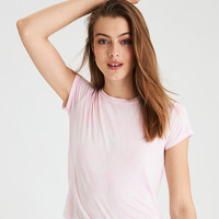 AE Soft & Sexy Washed Fitted Classic T-Shirt, Pink