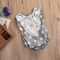 Baby Girls Floral Lace romper
