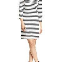 Women's Striped 3/4-Sleeve Dresses