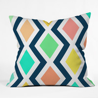 Rebecca Allen Delighted II Outdoor Throw Pillow