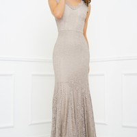 Lena Lace Gown - Champagne