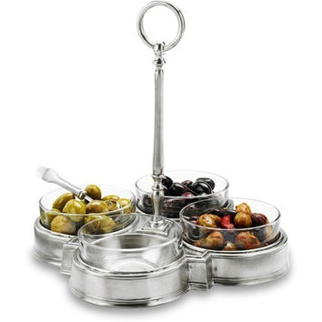 Match Pewter Crudite Quattro