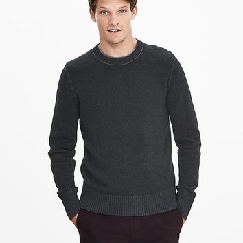 Banana Republic Mens Plaited Filpucci Italian Wool Sweater Pullover