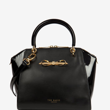 Small slim bow tote bag - Black | Bags | Ted Baker UK