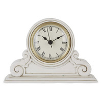 Small Cream Curved Mantle Clock