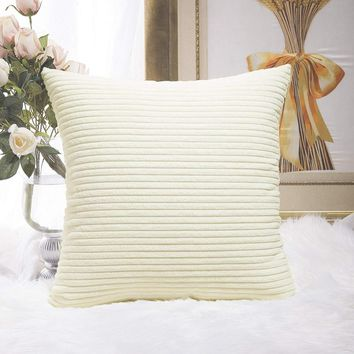 Meijuner New Plush Pillowcase Soft Fur Furry Cushion Cover Corn Strips Square Waist Throw Pillow Cover Gifts Dropshiping MJ0015