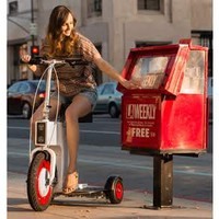 3 Wheel Folding Electric Scooter @ Sharper Image