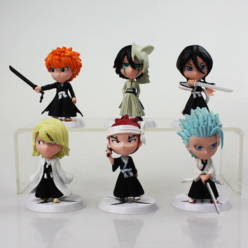 6Pcs/lot 7cm Anime Figure Bleach